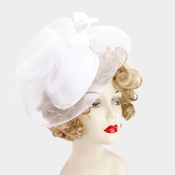 Accessories - Embellished Mesh Fascinator Hat
